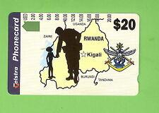 #D25. USED TESTRA AUSTRALIAN PEACE KEEPING  FORCES IN RWANDA PHONECARD