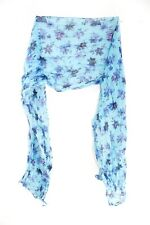 LADIES CHIC BLUE/ FLORAL GRAPHIC PATTERN PRINT STATEMENT SCARF NEW(MS42PT3)