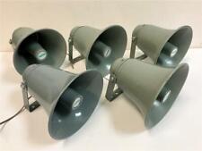 """Lot of 5 Csi Speco Spc-15 8"""" Dia Aluminium Gray All Weather Trumpet Speaker Horn"""