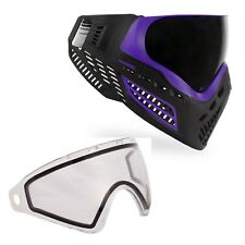 Virtue VIO Ascend Paintball Goggle and Spare Lens Bundle - Purple Smoke / Clear