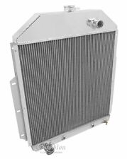 1942 43 44 45 46 47 Ford Truck with Ford Conversion 3 Row Core Aluminum Radiator