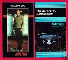 4 Star Trek Pocket Locator Personal Log Books Old Stock