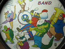 WALLY BEAR's BAND kids side drum Noble & Cooley marching bass 1960s ostrich