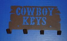 Western Decor ~Cowboy Keys~ Antiqued Metal Wall Hooks