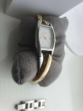 DKNY Ladies Silver/Gold Watch cross