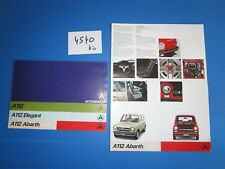 N°4540 bis  /  AUTOBIANCHI A112 Abarth... catalogue 1973 français et deutsch