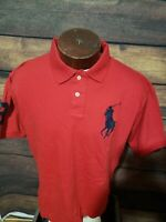 Polo ralph lauren Mens Large Big Pony Red Short Sleeve Golf Polo Shirt New