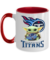 TITANS Coffee Mug, Pink Two Toned Tennessee TITANS Yoda Coffee Mug Gift