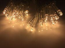 LED Lichterkette warmweiß 30 mit Batterie Betrieb Kabel transparent NEU & OVP