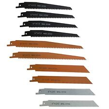 10 Piece Assorted Universal Reciprocating Saw Blades Set Wood Metal Shank Pack