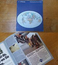 alter Lufthansa Streckenatlas um 1970 mit Aral,BMW alte Werbung Katalog 70er /th