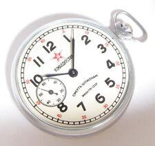 EARLY MILITARY Soviet USSR Pocket watch Molnija 15J SMERSH Death to Spies 3-1961