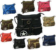 Markenlose Damentaschen aus Canvas/Segeltuch mit Innentasche (n)
