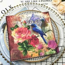 Birds Paper Napkins for Decoupage Kleenex Tableware Tissues DIY Craft Decoration