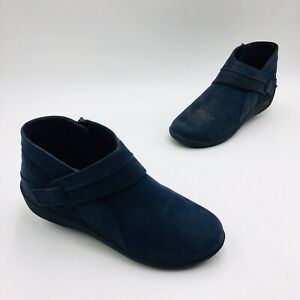 Clarks Cloudsteppers Women's Sillian Rani Exposed Ankle Bootie Size 7.5W Navy