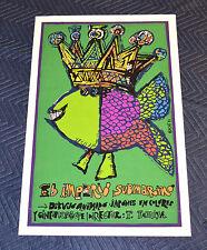 1972 Original Cuban Silkscreen Movie Poster.The Submarine Empire.Fish King art.