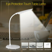 LED Table Desk Lamp Dimmable USB Rechargeable Touch Night Lights Reading Study