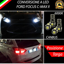 LUCI POSIZIONE A LED + LUCI TARGA A LED CANBUS FORD FOCUS C-MAX II NO ERRORE