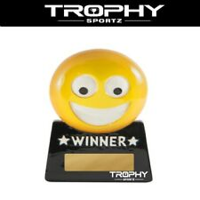 1 x EMOJI WINNER Trophy 87mm yellow m&m smashmouth family novelty minigolf champ