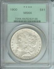 1900 (1900-P) MORGAN SILVER DOLLAR S$1 PCGS MS64 OLD GREEN HOLDER OGH  O.G.H.