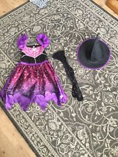 Girls Halloween Witch Outfit Age 7-8yrs