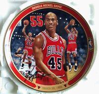"""Michael Jordan 90s Collectors Plate w/COA Upper Deck """"Double Nickel Game"""""""