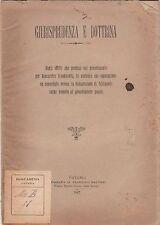 Giurisprudenza e dottrina - Bancarotta fraudolenta - Catania 1887