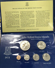 Franklin Mint 1974 Official Coinage of the British Virgin Islands Uncirculated
