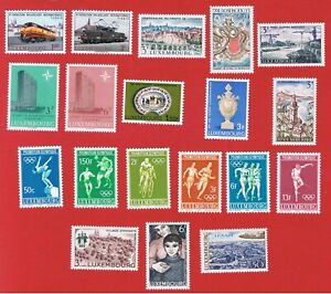 Luxembourg #442//473  MNH OG  7 sets plus single   Free S/H