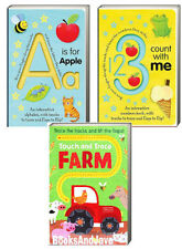 A is for Apple,1 2 3 Count With Me,Farm (bb) tracks to trace & lift the flaps
