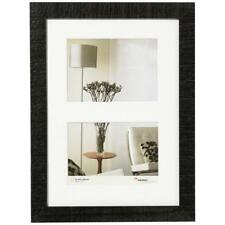 """Walther Home Gallery 7x5"""" 2 Aperture Frame Black HO218B"""
