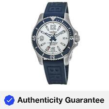 Nuevo Breitling Superocean 42 Esfera Blanca Blue Goma Reloj para hombres A17366D81A1S1