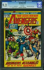 AVENGERS 100 CGC 9.2 1 COMIC WHITE PGS BWS ART IRONMAN HULK THOR SPIDERMAN