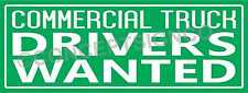 2x5 Commercial Truck Drivers Wanted Banner Outdoor Sign Cdl Owner Operators