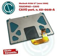 """APPLE MACBOOK PRO A1286 15"""" 2008 TRACKPAD TOUCHPAD MOUSE + CABLE FLAT 821-0648-A"""