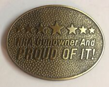 Vtg 1970's NRA Gunowner and Proud Of It! Belt Buckle by Norman Foundry Dallas