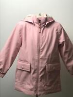 GIRLS H&M PINK HOODED PADDED WARM WINTER RAINCOAT JACKET KIDS AGE EUR 116