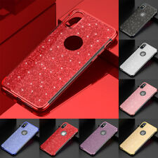 Soft TPU Slim Glitter Case Cover For iPhone 6S 7 8 X Samsung S7 S8+ S9+ Note 8 9