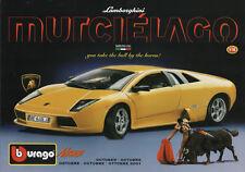 BBURAGO-News-ottobre 2001-LAMBORGHINI MURCIELAGO-Depliant-NUOVO