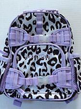 Pottery Barn Kids Mackenzie Lavender Brwn Cheetah Mini Preschool Backpack MADDIE