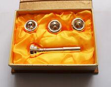 Trumpet Mouthpiece Set Convertible Parts Silver Plated Size of 7C 5C 3C 1 1/2C