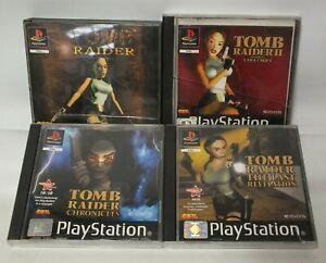 Tomb Raider PS1 Games Bundle Inc 1, 2, 4, & 5 Chronicles Last Revelation (Hol)