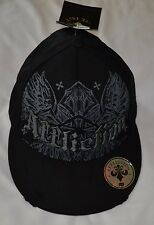 Affliction Black Cap Hat Distressed Size S/M Retail $45 NWT MMA UFC