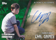 Topps Walking Dead Evolution Autograph A-CR Carl Grimes Green 18/25