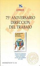 Chile 1999 Brochure 75 aniversario Direccion del Trabajo