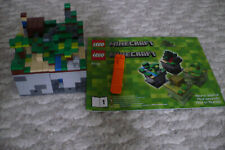 LEGO 21102 Minecraft MICRO WORLD Comes Assembled !  2 Manuals Steve and Creeper
