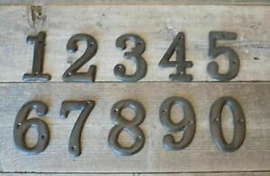 Metal House Numbers Street Address Rustic Cabin Cast Iron Pick #'s from 0-9 #