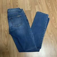 Jennifer Lopez Womens Jeans Sz 0 Medium Blue Wash Faded Straight Leg Casual DM8