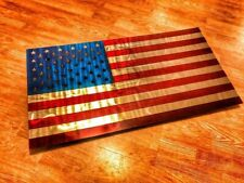 Stainless steel United States Flag
