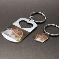 Personalised Picture Keyring Custom Photo Keychain Customized Gift For Couples